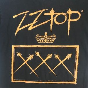 ZZ Top authentic concert tee!! Two sided